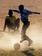 Local kids play football in Daveyton township, Johannesburg, South Africa. .FIFA Football World Cup..Sunday 13 June 2010..Photo: Andrew Cornaga/PHOTOSPORT