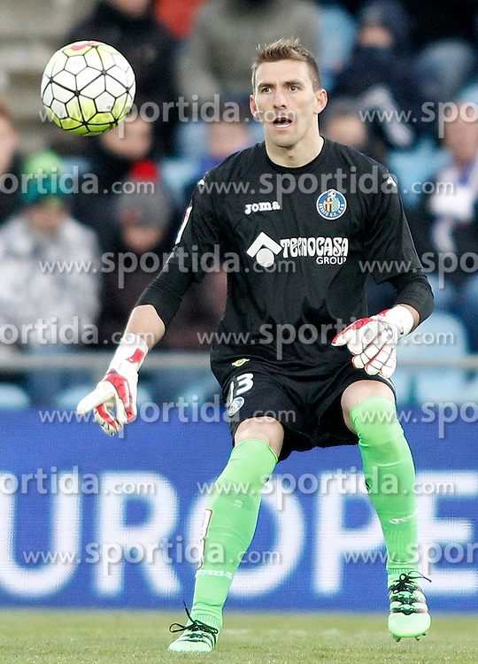 27.02.2016, Estadio Balaidos, Vigo, ESP, Primera Division, Getafe CF vs RC Celta, 26. Runde, im Bild Getafe's Vicente Guaita // during the Spanish Primera Division 26th round match between Getafe CF and RC Celta at the Estadio Balaidos in Vigo, Spain on 2016/02/27. EXPA Pictures &copy; 2016, PhotoCredit: EXPA/ Alterphotos/ Acero<br /> <br /> *****ATTENTION - OUT of ESP, SUI*****