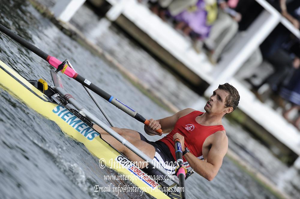 Henley, GREAT BRITAIN. Diamond Challenge Scull, Agecroft. BC, Brendan CREAN. 17:58:33, Thursday  01/07/2010 [Mandatory Credit: Peter Spurrier / Intersport-images] Rowing Courses, Henley Reach, Henley, ENGLAND . HRR.
