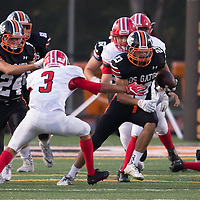 (Photograph by Bill Gerth/ for SVCN/9/8/17)San Benito vs Los Gatos in a preseason football game at Los Gatos High School, Los Gatos CA on 9/8/17. (San Benito 21 Los Gatos 20)