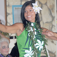 Jeannie Gann performs a Tahitian dance during Senior & Family Intergenerational Arts Festival: Celebration of Life on Saturday, October 9, 2010.