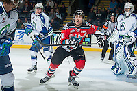 KELOWNA, CANADA - OCTOBER 7:  Tyson Baillie #24 of Kelowna Rockets skates against the Swift Current Broncoson October 7, 2014 at Prospera Place in Kelowna, British Columbia, Canada.  (Photo by Marissa Baecker/Getty Images)  *** Local Caption *** Tyson Baillie;