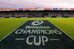 Champions cup branding  - Mandatory by-line: Dougie Allward/JMP - 08/12/2018 - RUGBY - Sandy Park Stadium - Exeter, England - Exeter Chiefs v Gloucester Rugby - European Rugby Champions Cup