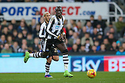 Newcastle United midfielder Mohamed Diame (15)  during the EFL Sky Bet Championship match between Newcastle United and Aston Villa at St. James's Park, Newcastle, England on 20 February 2017. Photo by Simon Davies.