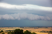 Big grey Arcus rolling storm clouds rolling in off the English Channel across Romney Marsh land near Dungeness, Kent.  (photo by Andrew Aitchison / In pictures via Getty Images)