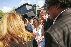 May 4, 2017 - Orlando, FL, USA - Barbara Poma, the owner of the Pulse Nightclub, meets with guests outside of the club after she helped announce plans for a memorial on Thursday May 4, 2017 in Orlando, Fla. (Credit Image: © Jacob Langston/TNS via ZUMA Wire)