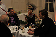 DAVID LACHAPELLE; DAPHNE GUINNESS; Henry Allsop, Nicky Haslam party for Janet de Bottona nd to celebrate 25 years of his Design Company.  Parkstead House. Roehampton. London. 16 October 2008.  *** Local Caption *** -DO NOT ARCHIVE-© Copyright Photograph by Dafydd Jones. 248 Clapham Rd. London SW9 0PZ. Tel 0207 820 0771. www.dafjones.com.