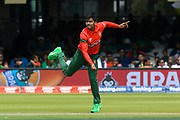Mehedi Hasan of Bangladesh bowling during the ICC Cricket World Cup 2019 match between Pakistan and Bangladesh at Lord's Cricket Ground, St John's Wood, United Kingdom on 5 July 2019.