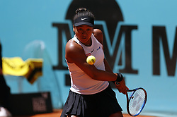May 9, 2019 - Madrid, Madrid, Spain - Naomi Osaka of Japan seen in action against Belinda Bencic of Switzerland during day six of the Mutua Madrid Open at La Caja Magica in Madrid, Spain. (Credit Image: © Manu Reino/SOPA Images via ZUMA Wire)