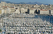 = The old port view from Saint jean tower Marseille  France     /// Le vieux port vu de la tour saint Jean  Marseille  France  +