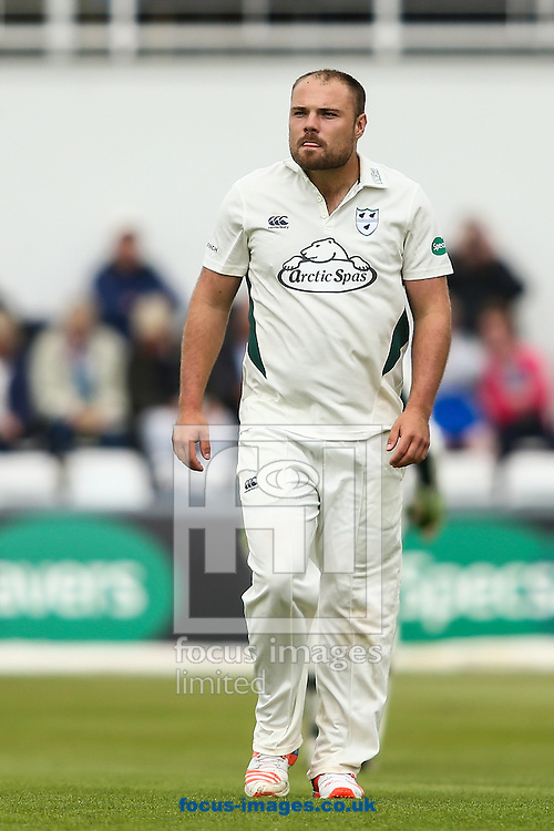 Joe Leach of Worcestershire CCC during the Specsavers County C'ship Div Two match at the County Ground, Northampton<br /> Picture by Andy Kearns/Focus Images Ltd 0781 864 4264<br /> 11/07/2016