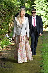 LADY ELOISE WAYMOUTH at the wedding of Princess Florence von Preussen second daughter of Prince Nicholas von Preussen to the Hon.James Tollemache youngest son of the 5th Lord Tollemache held at the Church of St.Michael & All Angels, East Coker, Somerset on 10th May 2014.