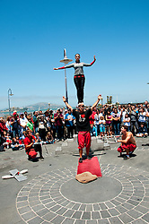 San Francisco: Street entertainers at Fisherman's Wharf.  Photo copyright Lee Foster. Photo # casanf104155