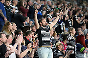 A Hull FC fan during the Betfred Super League match between Hull FC and Leeds Rhinos at Kingston Communications Stadium, Hull, United Kingdom on 19 April 2018. Picture by Mick Atkins.