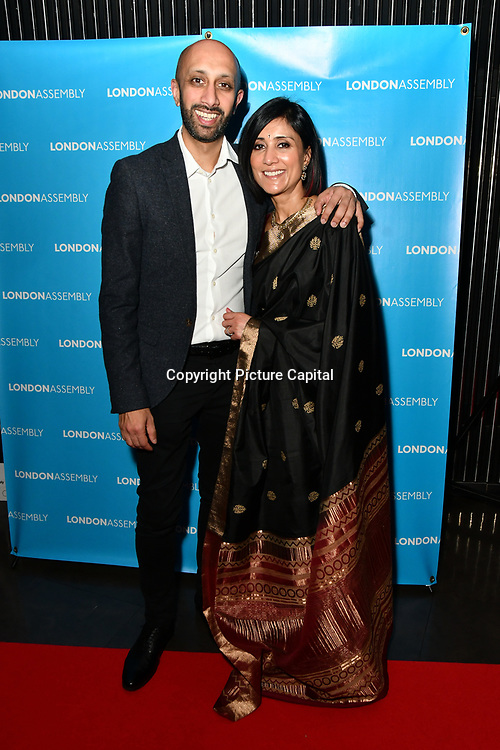 Jay Patel and Sina Patel attend The BAME Donor Gala - Awareness gala hosted by the Health Committee with live music and poetry performances at City Hall at The Queen's Walk, London, UK. 18 March 2019.