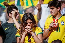 Bruna Marquezine na torcida brasileira na partida entre Brasil x Chile, válida pelas oitavas de final da Copa do Mundo 2014, no Estádio Mineirão, em Belo Horizonte. FOTO: Jefferson Bernardes/ Agência Preview