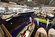 Düsseldorf, North Rhine Westphalia.<br /> Boot 2015 is the biggest fair related to yachting and maritime sports in the World.<br /> Luxury yachts in Hall 6.