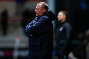 Wimbledon Manager Wally Downes  during the The FA Cup 3rd round match between Fleetwood Town and AFC Wimbledon at the Highbury Stadium, Fleetwood, England on 5 January 2019.