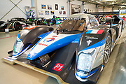 Peugeot 908 HDI FAP 2009 diesel race car on display at the exhibition musee at Le Mans Racetrack in France