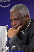 """Peter Kodwo Appiah Turkson, Cardinal; Prefect, Dicastery for Promoting Integral Human Development, Vatican City State speaking during the Session """"Will Free Markets Make a Comeback?"""" at the Annual Meeting 2018 of the World Economic Forum in Davos, January 26, 2018.<br /> Copyright by World Economic Forum / Greg Beadle"""