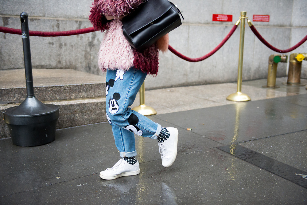 Mickey Mouse Jeans, Outside Victoria Beckham FW2017