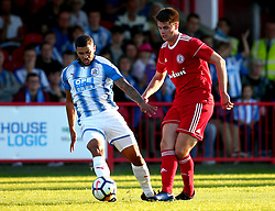 Nahki Wells of Huddersfield Town challenges Janoi Donacien of Accrington Stanley - Mandatory by-line: Robbie Stephenson/JMP - 12/07/2017 - FOOTBALL - Wham Stadium - Accrington, England - Accrington Stanley v Huddersfield Town - Pre-season friendly