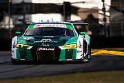 January 24-28, 2018. IMSA Weathertech Series ROLEX Daytona 24. 29 Montaplast by Land Motorsport, Audi R8 LMS GT3, Sheldon van der Linde, Christopher Mies, Jeffrey Schmidt