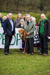 Pictured: Andy Wightman;  Jim Telfer, farm owner holding Copper the mini Shetland pony and local candidate Ian Baxter<br /> <br /> The Scottish Green Party's Andy Wightman, MSP, joined local election candidate Ian Baxter at the proposed site of a new film studio in Edinburgh ahead of the local council elections.<br /> Ger Harley | EEm 17 April 2017