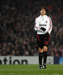 LONDON, ENGLAND - Wednesday, February 20, 2008 : Arsenal in action against AC Milan's Kaka during the UEFA Champions 1st Knockout Round, 1st Leg match at The Emirates Stadium. (Photo by Chris Ratcliffe/Propaganda)