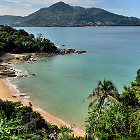 Elevated View of Laem Sing Beach in Phuket, Thailand <br />