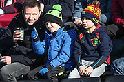 Young FGR fans during the EFL Sky Bet League 2 match between Forest Green Rovers and Crawley Town at the New Lawn, Forest Green, United Kingdom on 24 February 2018. Picture by Shane Healey.