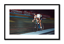 Francesco Moser,<br /> Grenoble Six-Day 1982<br /> <br /> Moser wearing the world champion's jersey as he partnered Urs Freuler, the world points race champion, at the Grenoble Six-Day.