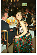 ANDRE SCHNEIDER; ROSAMUND PIKE, Indian Palace Ball, St. James Sq. 8 July 2002.<br /> <br /> SUPPLIED FOR ONE-TIME USE ONLY> DO NOT ARCHIVE. © Copyright Photograph by Dafydd Jones 248 Clapham Rd.  London SW90PZ Tel 020 7820 0771 www.dafjones.com
