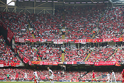 CARDIFF, WALES - SATURDAY, MAY 13th, 2006: Liverpool fans during extra-time of the FA Cup Final against West Ham United at the Millennium Stadium. (Pic by David Rawcliffe/Propaganda)