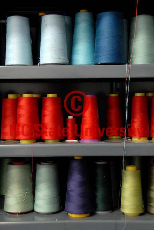 Spools of thread at the College of Textiles.