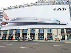 Large billboard advertising iPad in Berlin Germany
