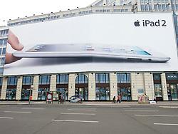 Large billboard advertising iPad in Berlin Germany