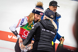SHIFFRIN Mikaela of USA reacts upon entering the Finish during the 6th Ladies' Slalom at 55th Golden Fox - Maribor of Audi FIS Ski World Cup 2018/19, on February 2, 2019 in Pohorje, Maribor, Slovenia. Photo by Blaž Weindorfer / Sportida