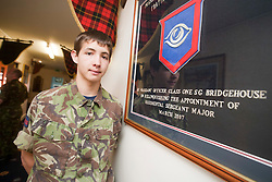 Danny Scullion, sergeants mess..Exercise Guards Warrior with the Scots Guards at their Catterick base..Pic ©2010 Michael Schofield. All Rights Reserved.