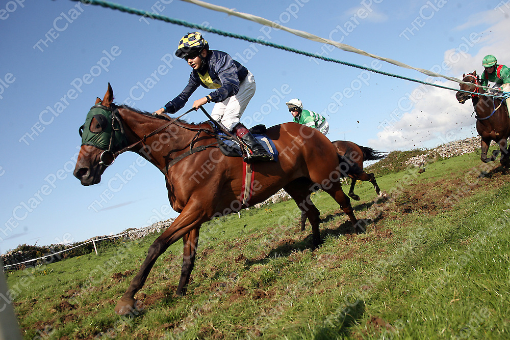Conor Brassil on Paddy's Dream at the annual Lisdoonvarna races at the weekend.<br /> Photograph by Yvonne Vaughan