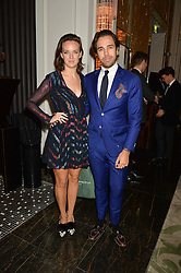 CHARLOTTE CARROLL and DIEGO BIVERO-VOLPE at the IWC Schaffhausen hosted Private Screening of The Lobster In Celebration Of The BFI - before the screening a drinks reception was held at The Langham Hotel, London on 15th October 2015.