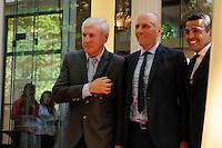 Luis FERNANDEZ / Elie BAUP / Sonny ANDERSON  - 17.05.2015 - Ceremonie des Trophees UNFP 2015<br /> Photo : Nolwenn Le Gouic / Icon Sport