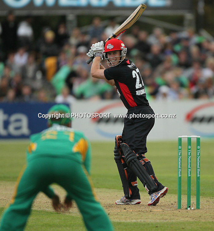 Canterbury player Henry Nicholls. Canterbury Wizards v South Africa. International Twenty20 cricket match, Hagley Oval, Wednesday 15 February 2012. Photo : Joseph Johnson / photosport.co.nz
