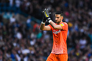 Leeds United goalkeeper Francisco Casilla (13) during the EFL Sky Bet Championship match between Leeds United and Brentford at Elland Road, Leeds, England on 21 August 2019.