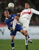 Fotball<br /> Bundesliga Tyskland 2004/05<br /> Vfb Stuttgart v Hansa Rostock<br /> 7. november 2004<br /> Foto: Digitalsport<br /> NORWAY ONLY<br />  Marcus Allbäck, Martin Stranzl VfB