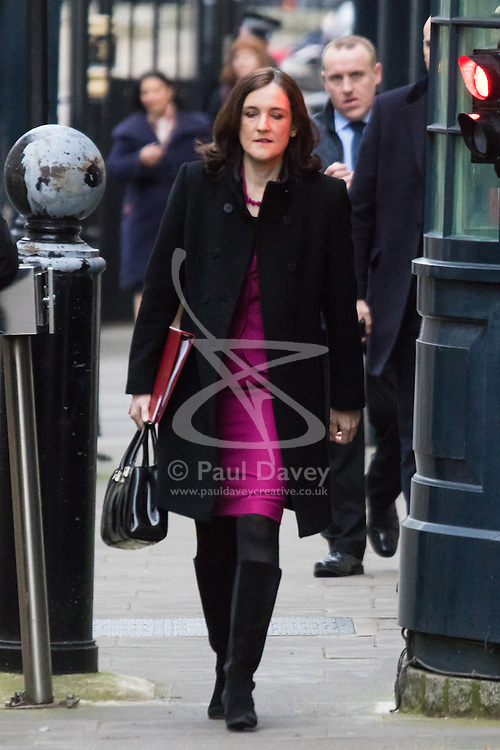 Downing Street, London, February 9th 2016.  Northern Ireland Secretary Theresa Villiers arrives in Downing Street for the weekly cabinet meeting. ///FOR LICENCING CONTACT: paul@pauldaveycreative.co.uk TEL:+44 (0) 7966 016 296 or +44 (0) 20 8969 6875. ©2015 Paul R Davey. All rights reserved.