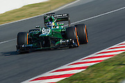 February 20, 2013 - Barcelona Spain. Charles Pic, Caterham F1 Team during pre-season testing from Circuit de Catalunya.