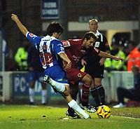 Photo: Ashley Pickering.<br /> Norwich City v Cardiff City. Coca Cola Championship. 21/10/2006.<br /> cardiff's michael chopra and colchester's kem izzet