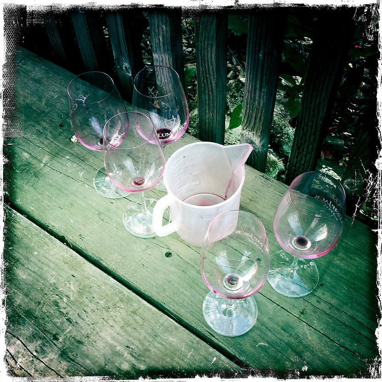 Napa Adventures Spring 2012 at PlumpJack Winery in Napa, CA.  Barrel wine tasting. iPhone Hipsta