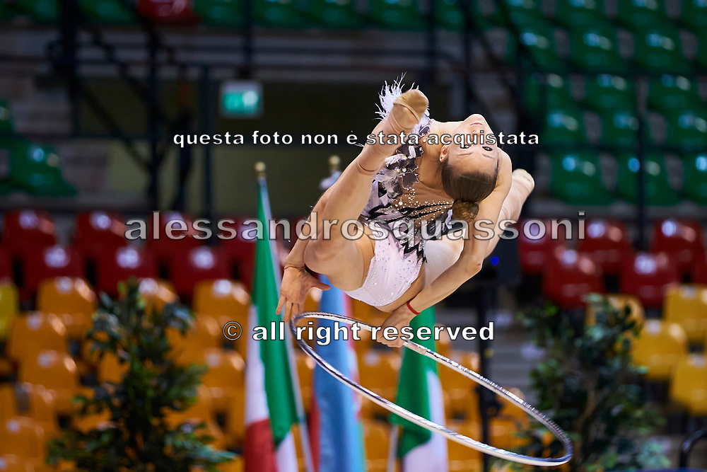 "Sofia Maffeis by team italia of rhythmic gymnastics  during the ""7th tournament city of Desio"", 09 March 2019."